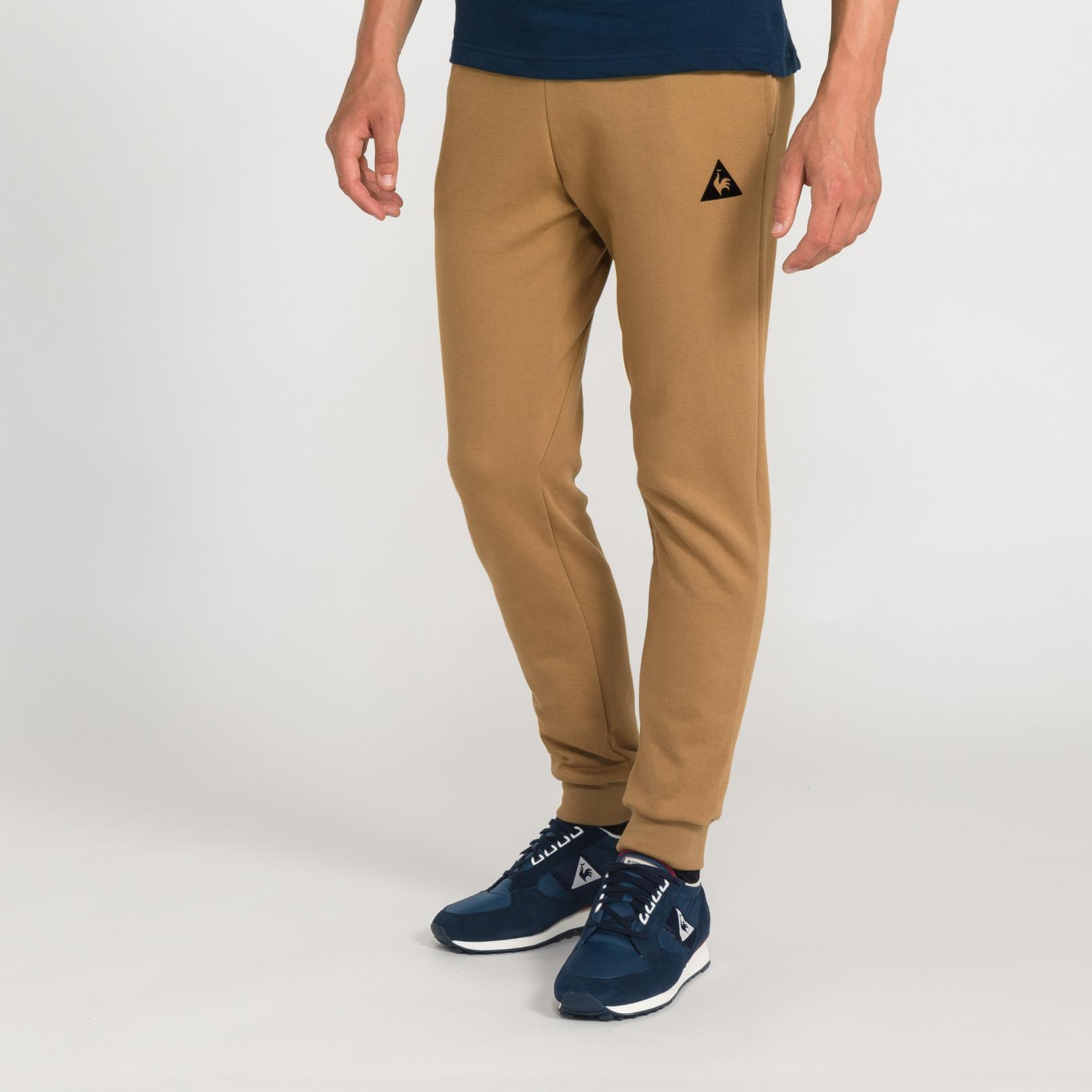 Pants – Le Coq Sportif Essentiels Pant Tapered Brown