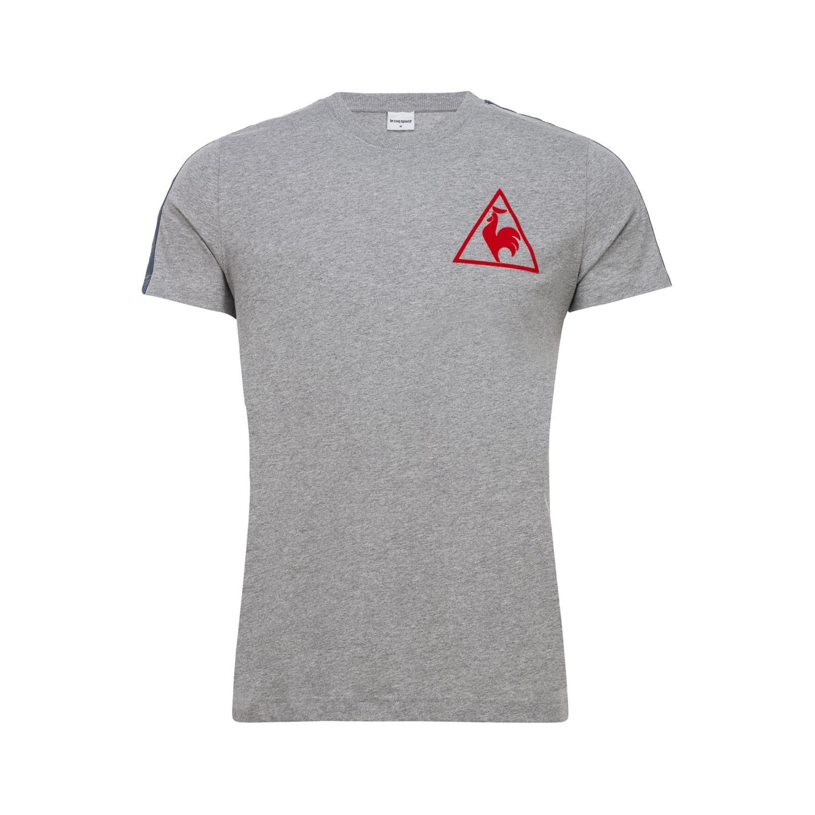 T-shirts – Le Coq Sportif Tricolore Football T-shirt Grey/Blue