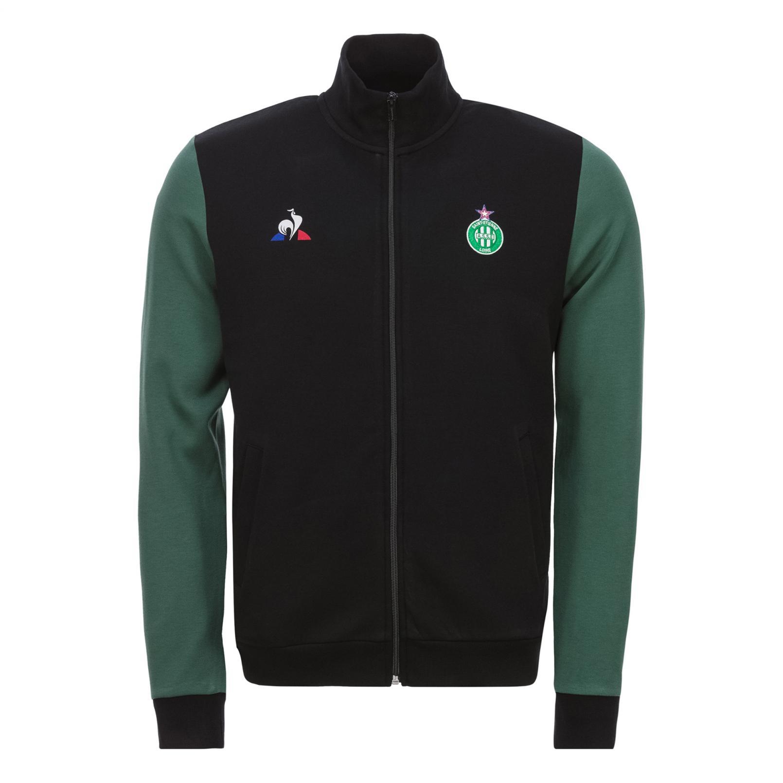 Coats & Jackets – Le Coq Sportif ASSE Fanwear Tracktop Black