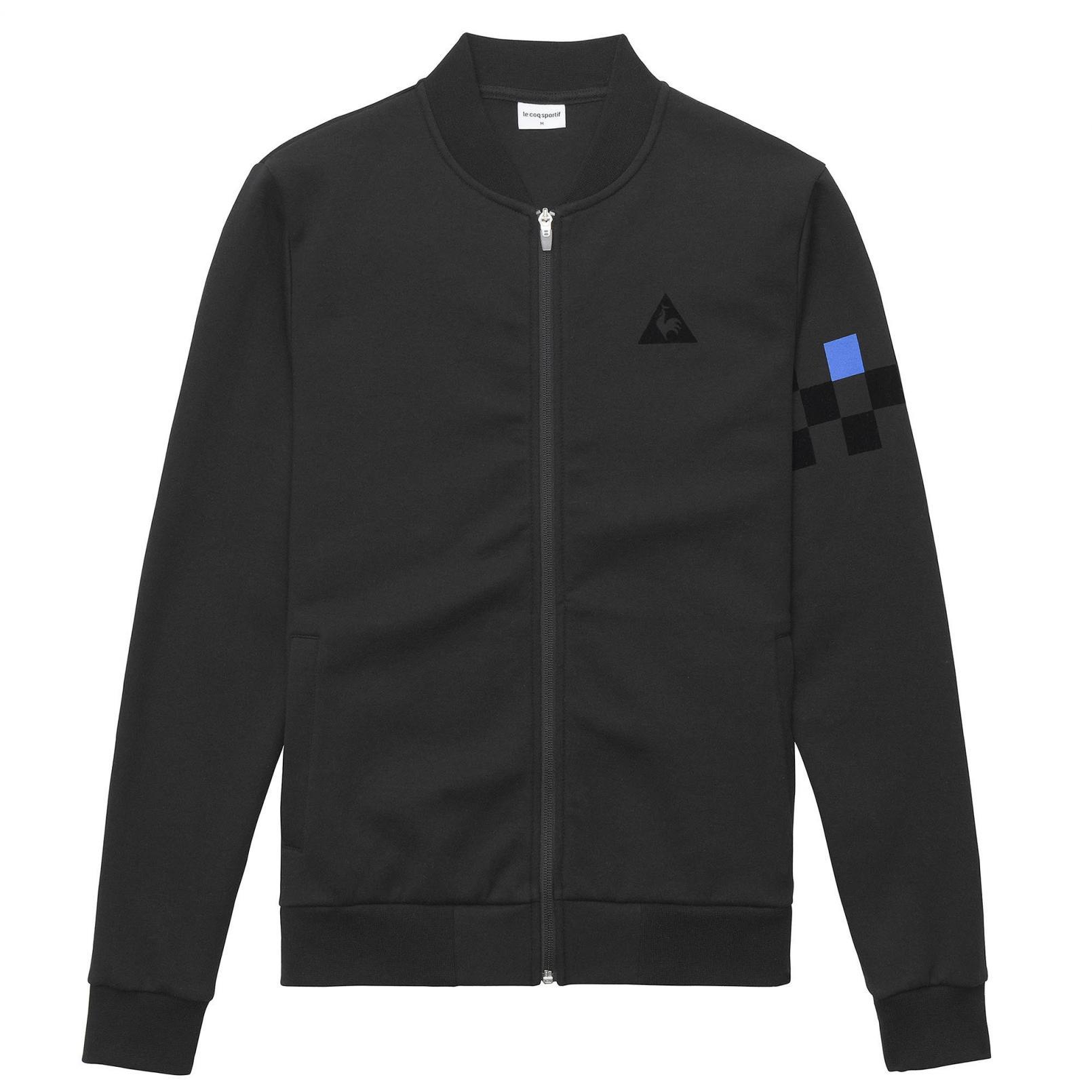 Coats & Jackets – Le Coq Sportif Tricolore Cycling Full zip sweatsthirt Black