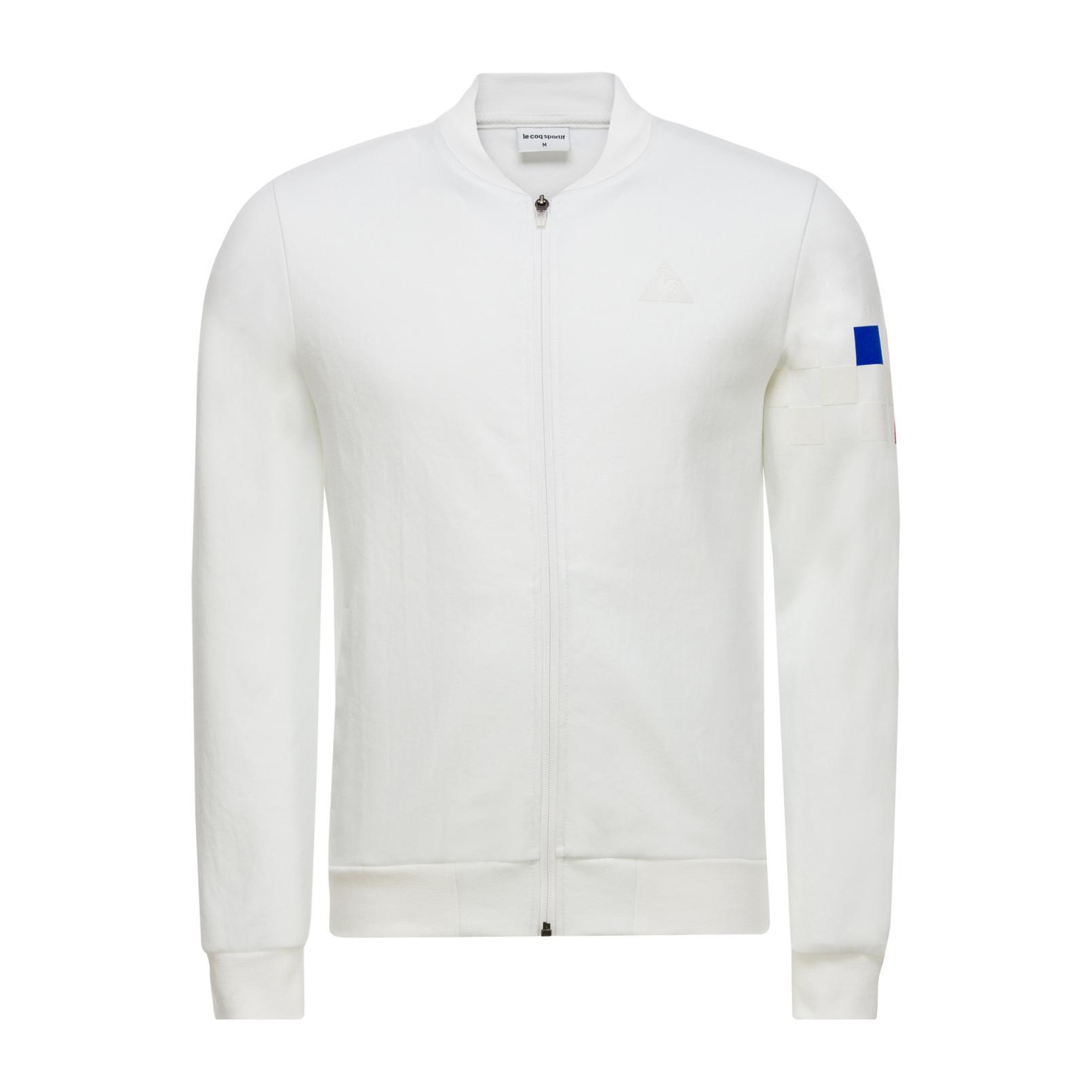 Coats & Jackets – Le Coq Sportif Tricolore Cycling Full zip sweatsthirt White