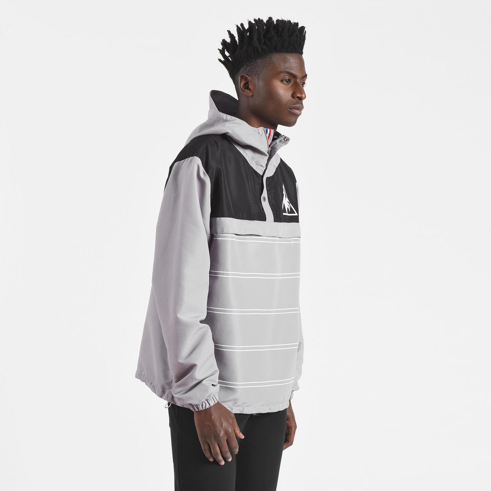 Coats & Jackets – Le Coq Sportif Tricolore Windbreaker Grey