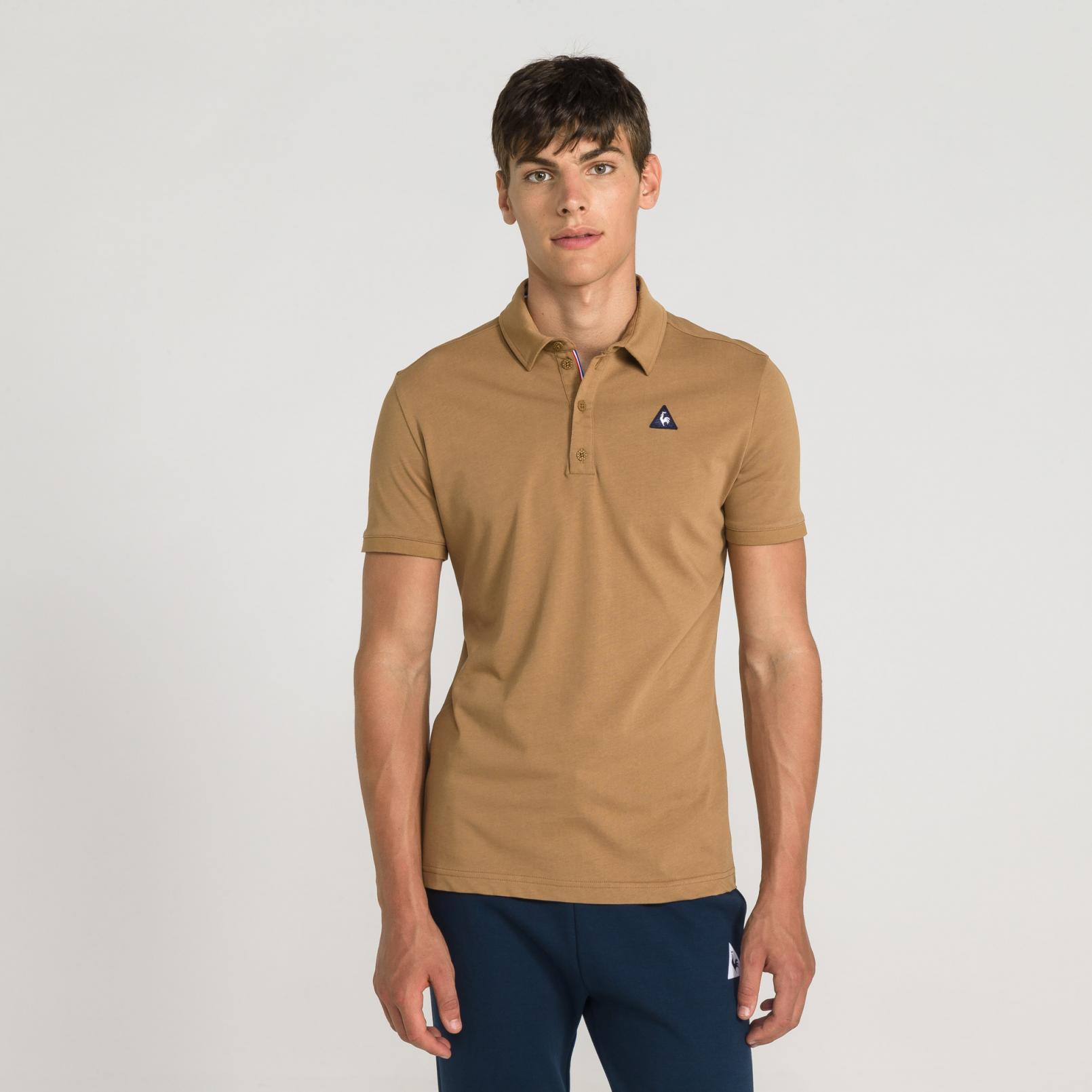 Polo – Le Coq Sportif Essentiels Polo Brown