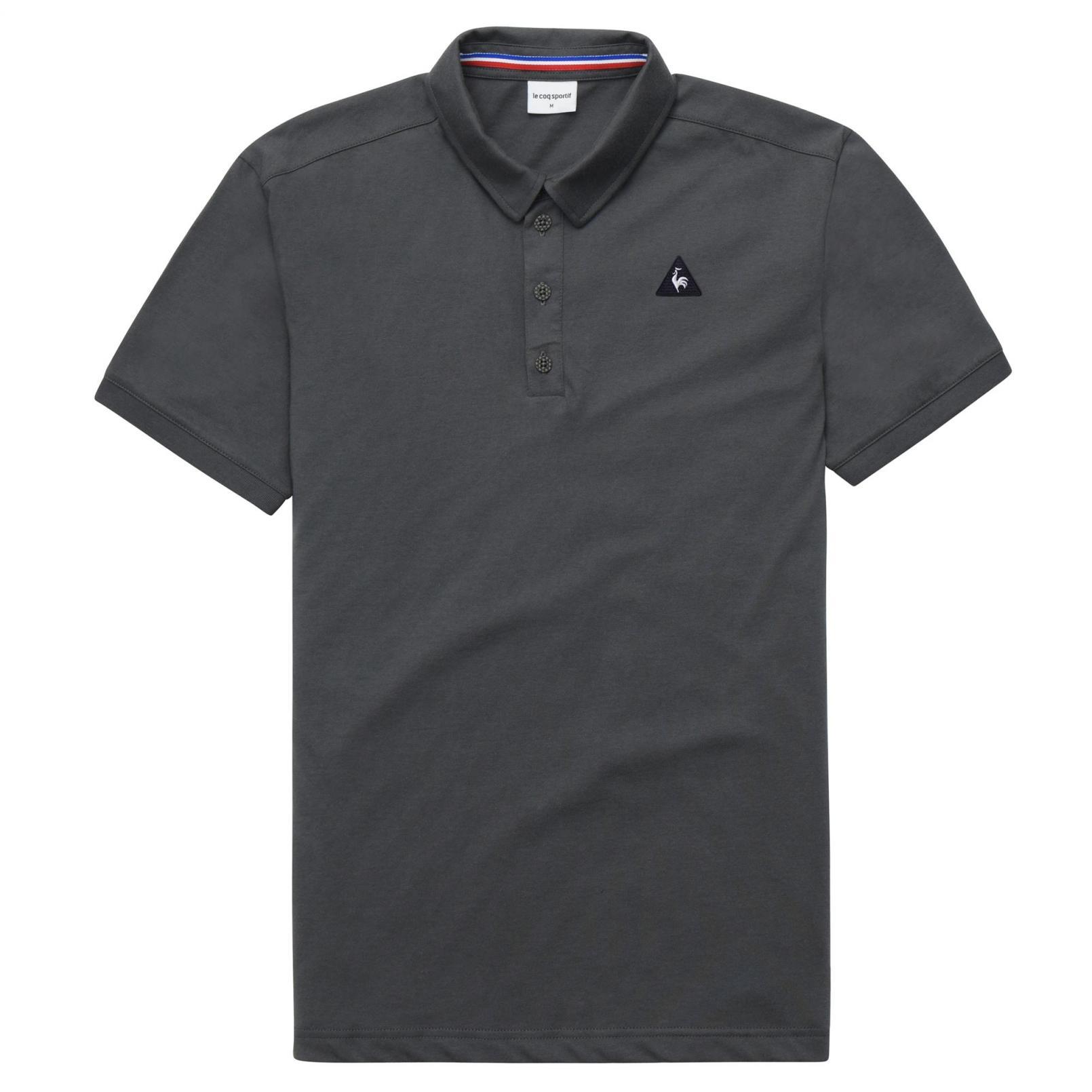 Polo – Le Coq Sportif Essentiels Polo Grey/Black