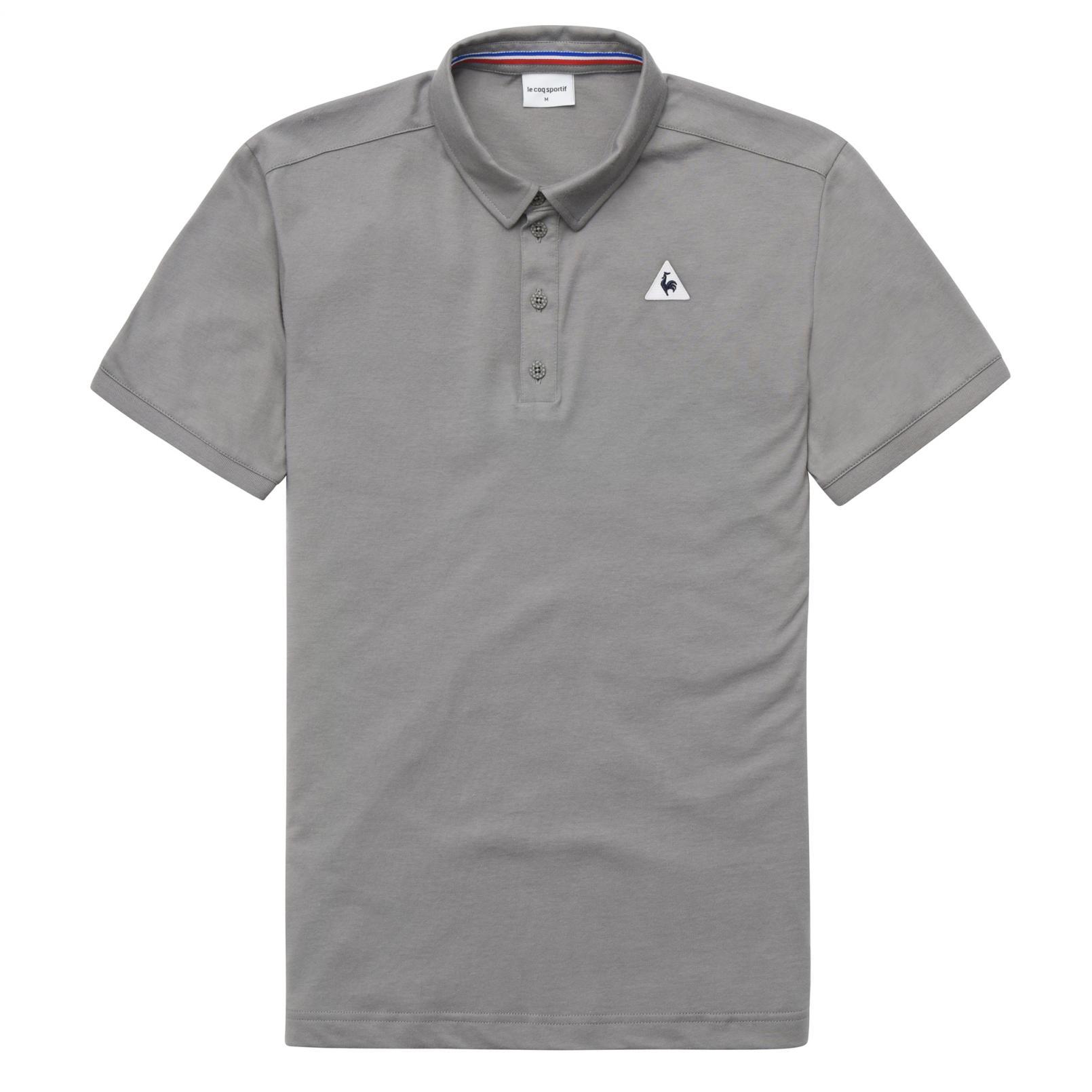 Polo – Le Coq Sportif Essentiels Polo Grey/White