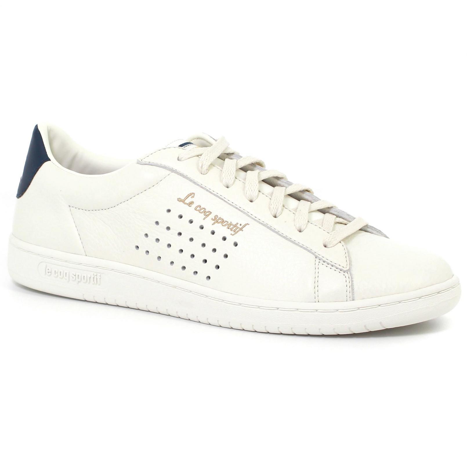 Shoes – Le Coq Sportif Arthur Ashe Tumbled Lea Cream/Blue