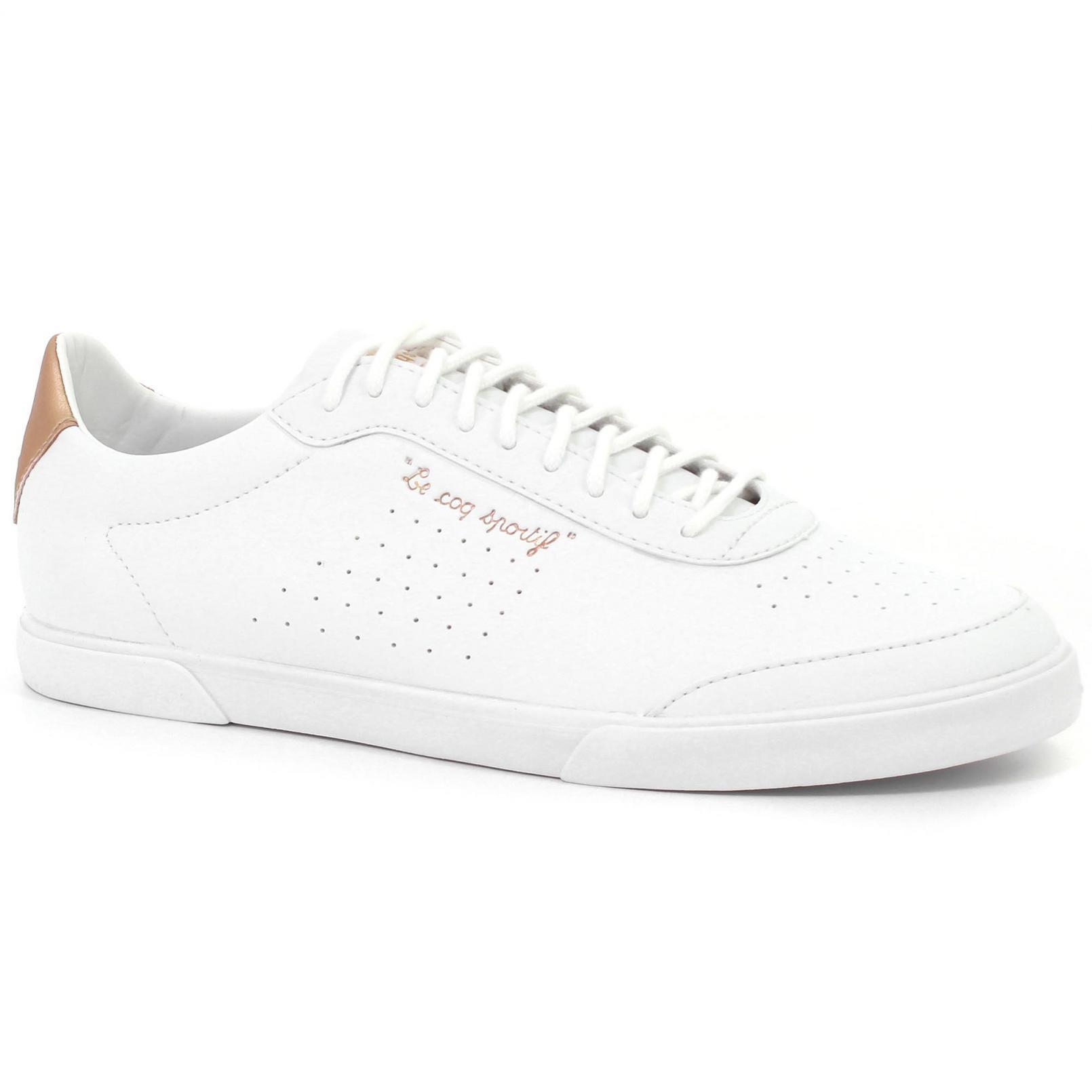 Shoes – Le Coq Sportif Lisa Metallic White/Pink