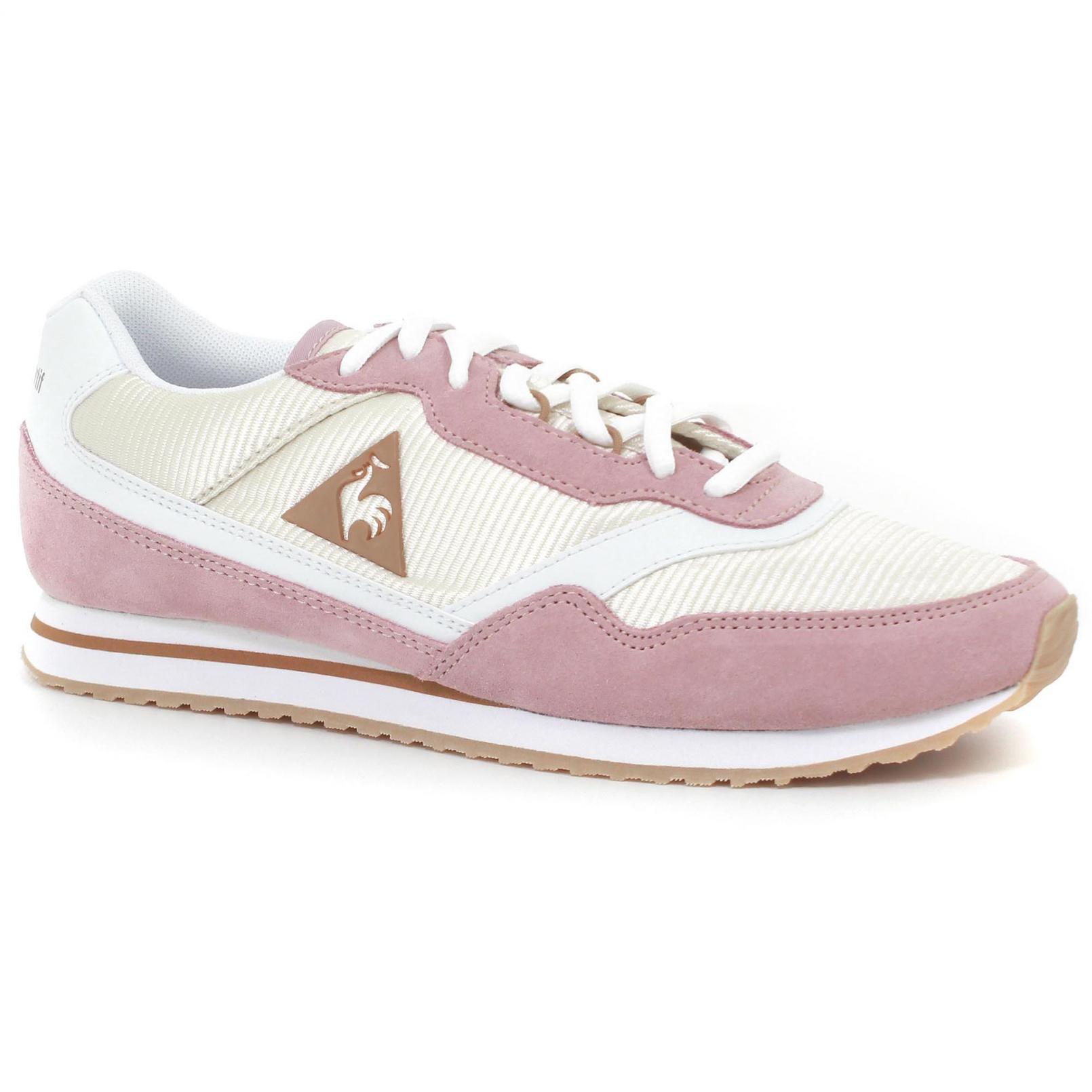 Shoes – Le Coq Sportif Louise Suede/Nylon Pink/Cream