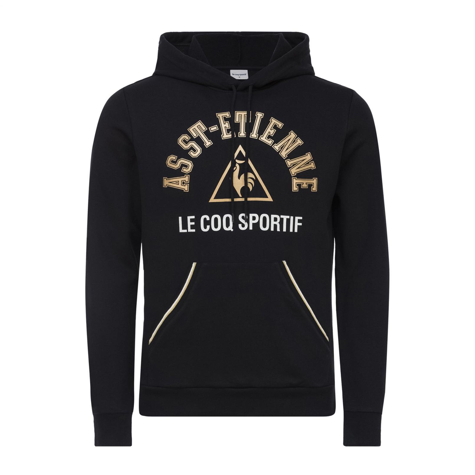 Sweat tops – Le Coq Sportif ASSE Fanwear Pull-over hood Black