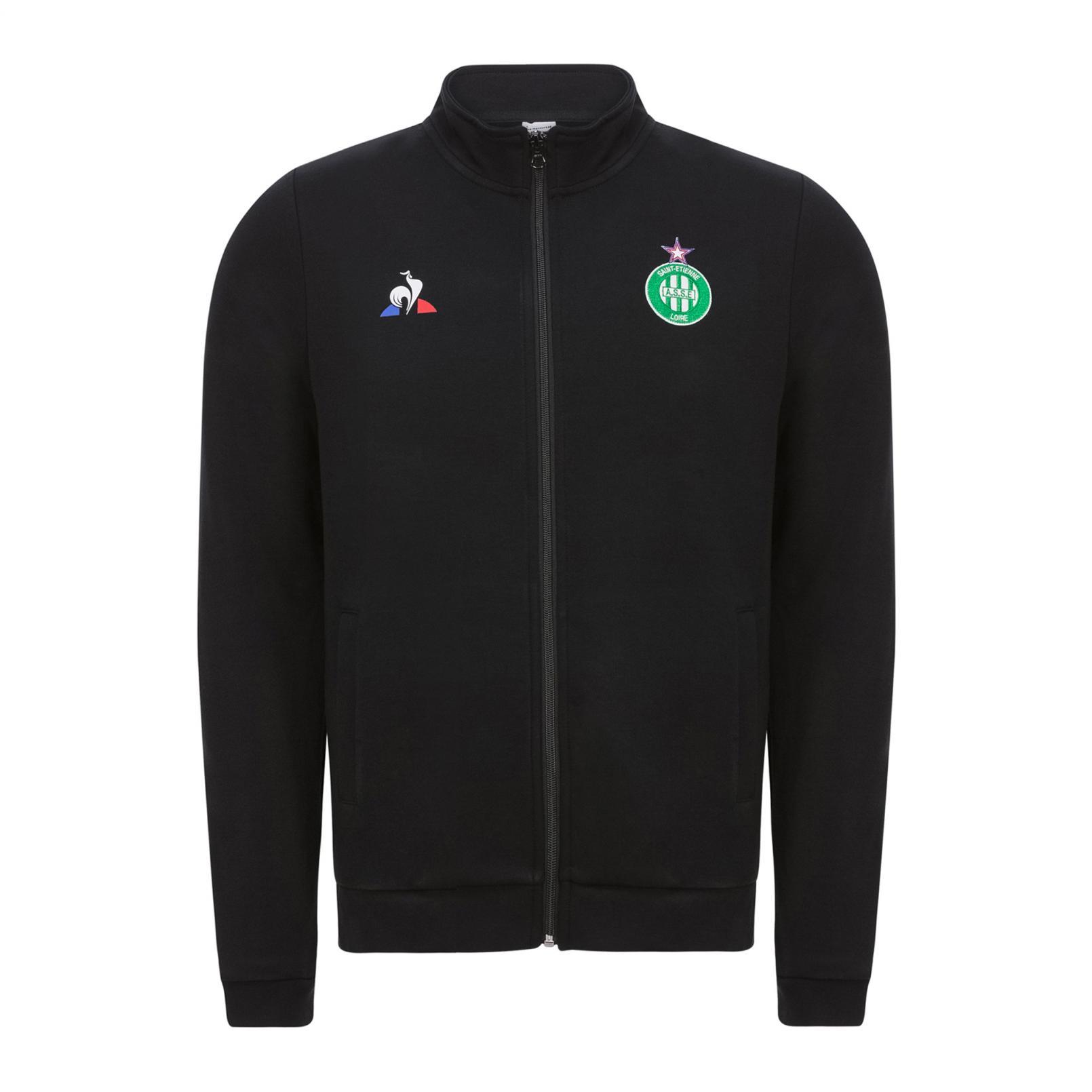 Sweat tops – Le Coq Sportif ASSE Pres Full zip sweatsthirt Black