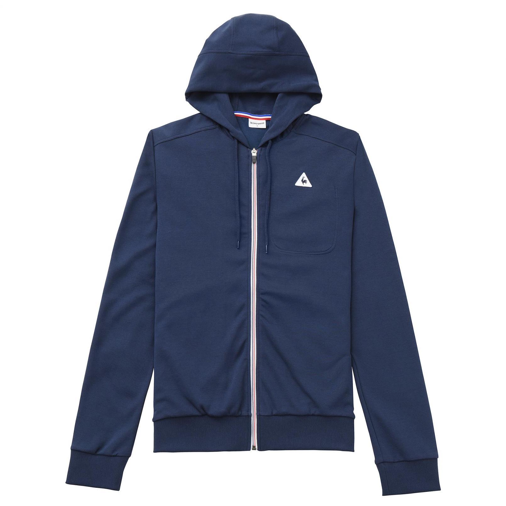 Sweat tops – Le Coq Sportif Essentiels Full zip hood Blue