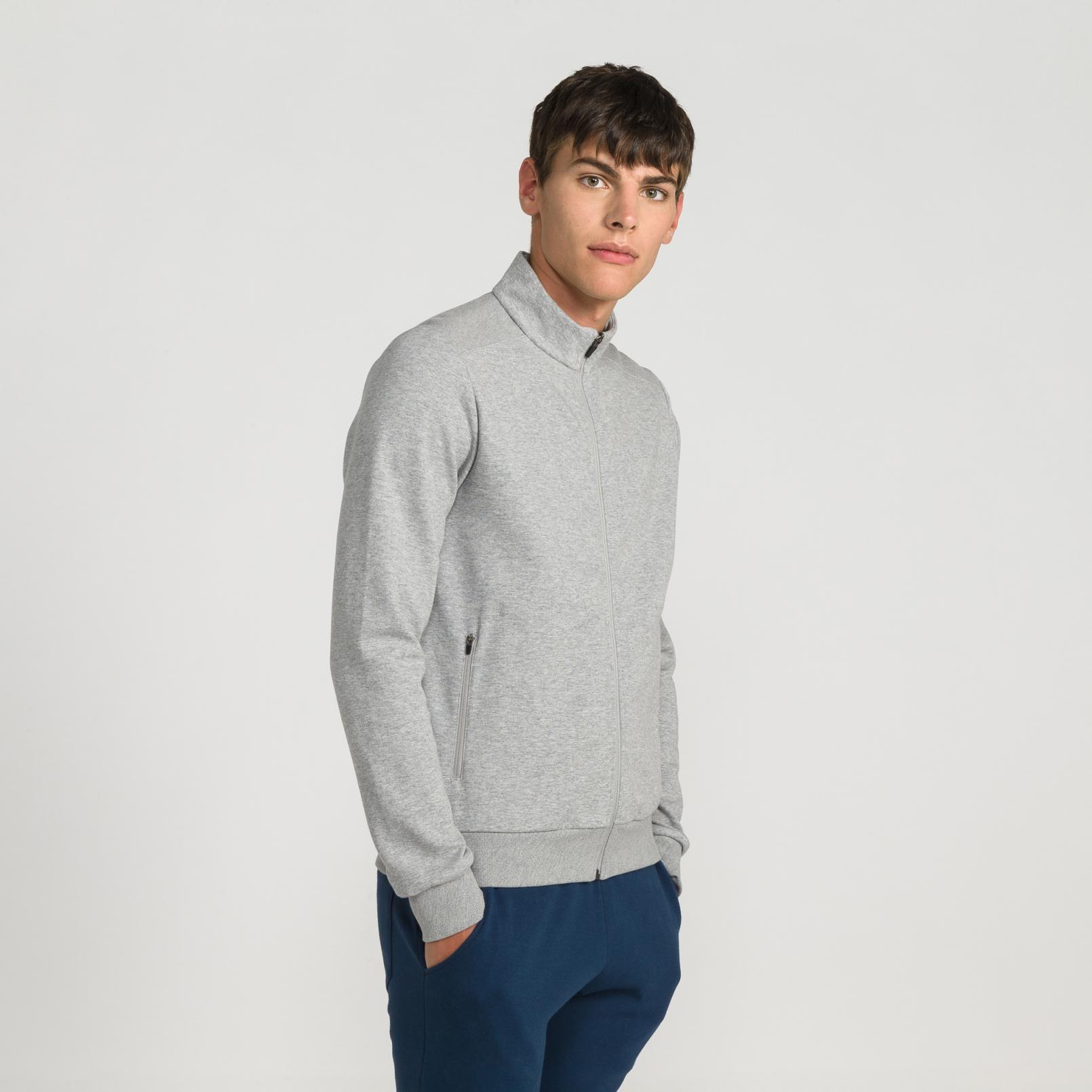 Sweat tops – Le Coq Sportif Essentiels Full zip sweatsthirt Grey