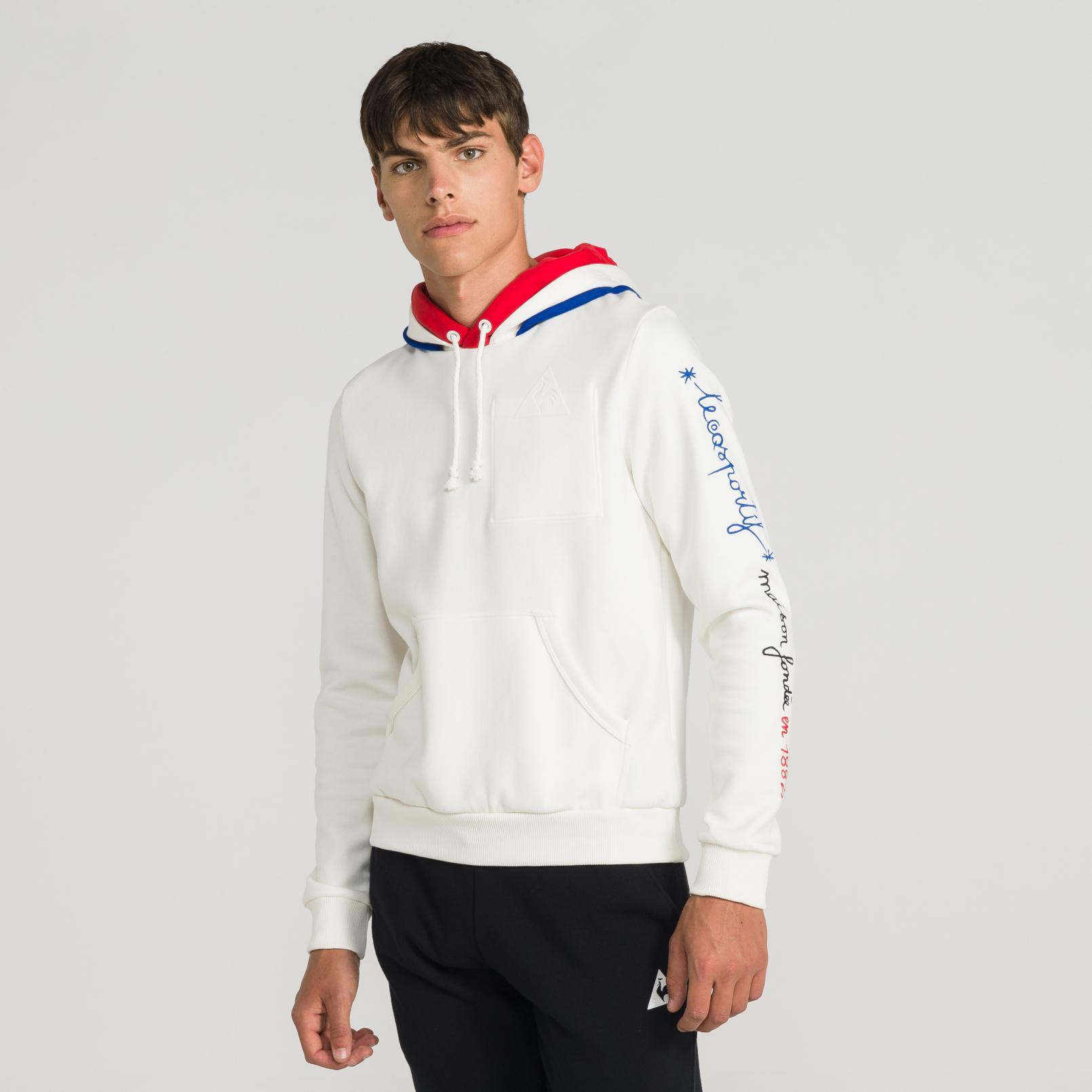 Sweat tops – Le Coq Sportif Tricolore 1882 Pull-over hood White