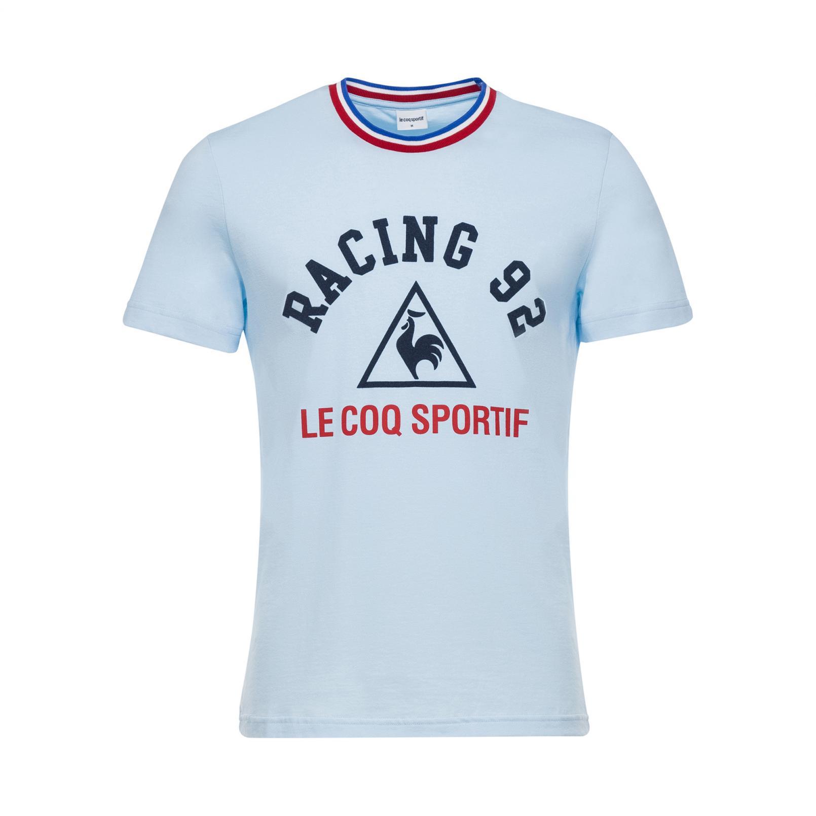 T-shirts – Le Coq Sportif Racing 92 Presentation T-shirt Light Blue